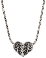 Lois Hill Sterling Silver Reversible Slide Heart Pendant Necklace