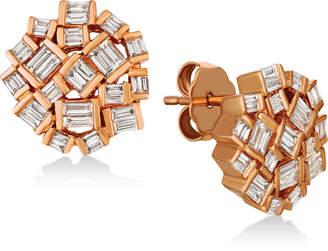LeVian Le Vian Baguette Frenzy Diamond Cluster Earrings (5/8 ct. t.w.) in 14k Rose Gold