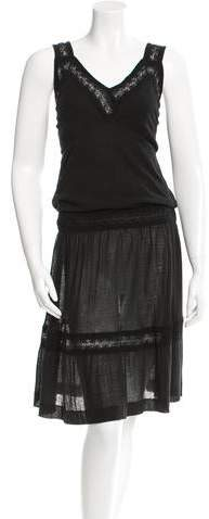 Chanel Lace-Trimmed Sleeveless Dress
