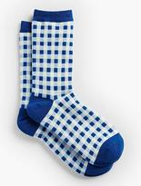 Talbots Gingham Trouser Socks