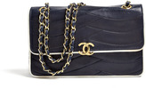 Chanel Navy 2.55 Bag With White Piping