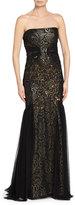 Badgley Mischka Strapless Lace Gown, Black/Gown