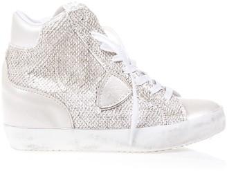 Philippe Model Metallic Leather Sneakers