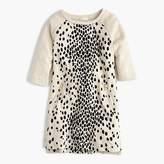 J.Crew Girls' leopard-flocked sweatshirt-dress