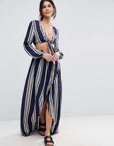 Asos Maxi Beach Skirt in Stripe Co-ord