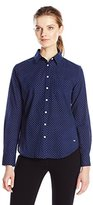 Dockers Women's Essential Perfect Pattern Relaxed Fit Boyfriend Shirt