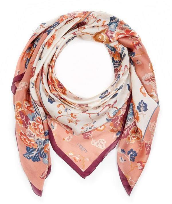 e690dbef7c8bd Peony Silk Scarf - ShopStyle UK