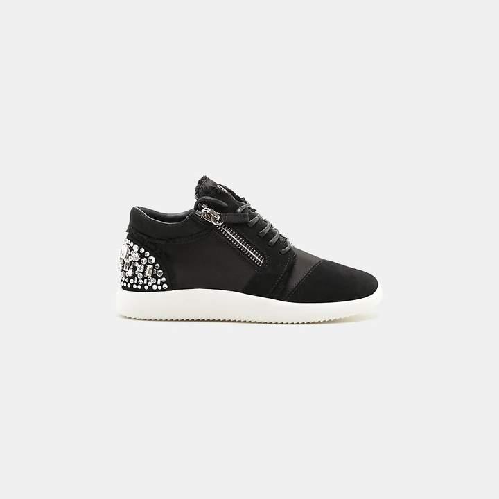 Giuseppe Zanotti Single Frayed Side-Zip Sneaker