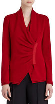 Lafayette 148 New York Gathered Asymmetrical Cashmere Sweater