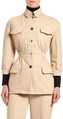 Prada Cotton Denim Safari Jacket