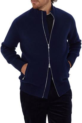 Brunello Cucinelli Men's Turtleneck Zip-Front Cardigan