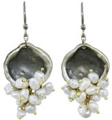 Ten Thousand Things Beaded Keshi Pearl Disc Earrings