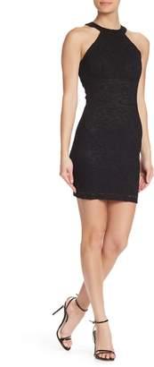 Jump Lace Halter Strappy Mini Dress