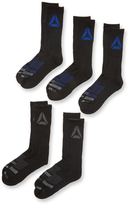 Reebok Tiered Striped Mid Calf Socks (5 Pack)