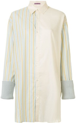Sueundercover Contrast Striped Panel Shirt