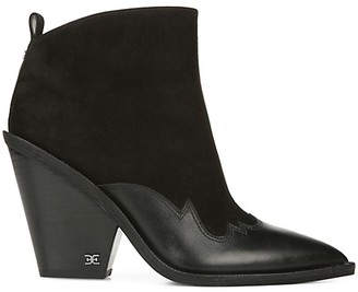 Sam Edelman Ilah Suede Leather Western Booties