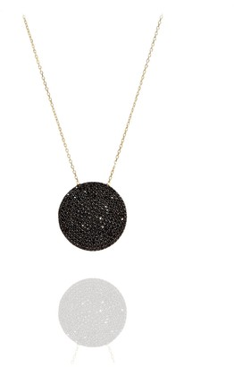 Savage & Rose Reece Black 18K Yellow Gold Necklace With Black Cz