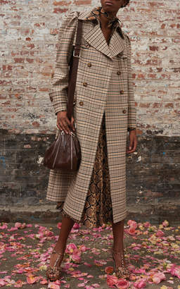 Michael Kors Puff Sleeve Wool-Blend Trench Coat