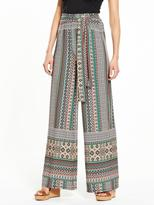 Very Tile Print Wide Leg Trouser