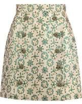 Dolce & Gabbana Embellished Metallic Brocade Mini Skirt