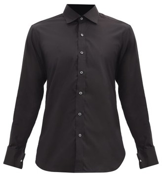 Emma Willis French-cuff Cotton-blend Shirt - Black