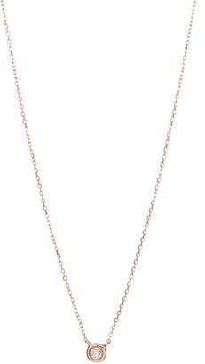 Ron Hami 14K Rose Gold Bezel Diamond Pendant Necklace - 0.05 ctw