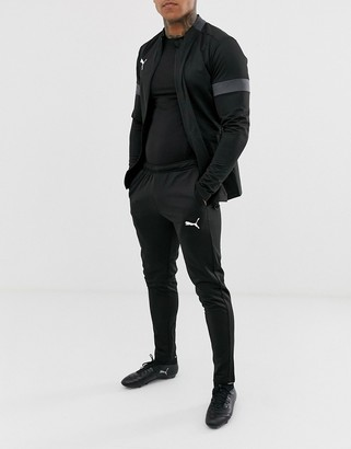 Puma Football tracksuit in black with grey panels