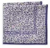 hook + ALBERT Floral Silk Pocket Square