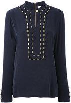 Pierre Balmain piped trim blouse - women - Silk - 40