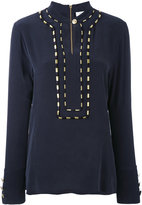 Pierre Balmain piped trim blouse - women - Silk - 42