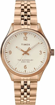 Timex Womens Analogue Quartz Watch with Stainless Steel Strap TW2T36500