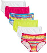 Fruit of the Loom Girls 6-16 5-pack + 1 Bonus Signature Breathable Hipster Panties