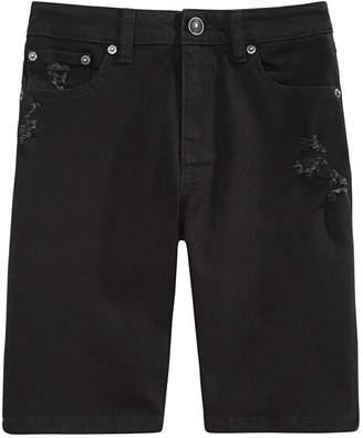 Ring of Fire Big Boys Riot Slim-Fit Stretch Destroyed Denim Shorts