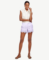 Ann Taylor Petite Scalloped Eyelet City Shorts