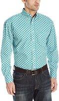 Wrangler Men's George Strait One Pocket Long Sleeve Printed Shirt