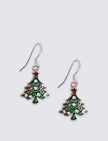 M&S Collection Christmas Tree Earrings