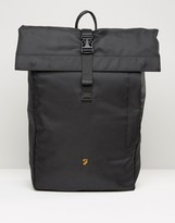Farah Roll Top Backpack In Black