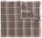 Fashion Clinic Timeless - checked scarf - men - Linen/Flax - One Size