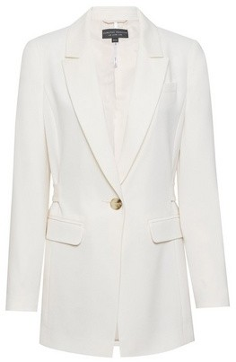 Dorothy Perkins Womens Cream Belted Tailored Jacket, Cream