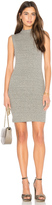 Enza Costa Rib Mock Neck Mini Dress