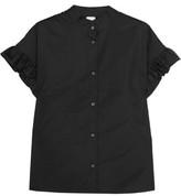Iris and Ink Ruffled Cotton-Poplin Shirt