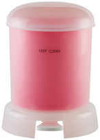 Container Store Retro Bubble Step Can Pink