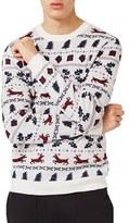 Topman Men's Christmas Fair Isle Sweater