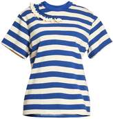 Golden Goose Deluxe Brand Gisa ruffle-trimmed striped T-shirt