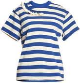 Golden Goose Gisa ruffle-trimmed striped T-shirt