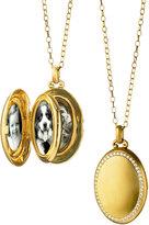 Monica Rich Kosann 18K Gold Premier Satin-Finish Locket Necklace with Diamonds