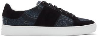 Etro Navy Paisley Sneakers