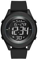 Skechers Men's Quartz Metal and Silicone Casual Watch, Color:Black (Model: SR5102)