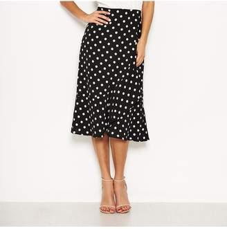 AX Paris Polka Dot Contrast Dress - Cream/Black