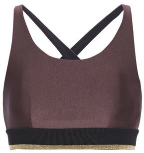Koral Metallic Stretch Sports Bra